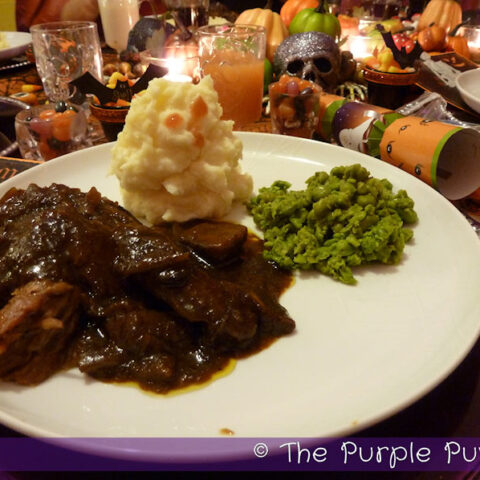 Ghoul-ash with Spooky Spuds & Poisoned Peas