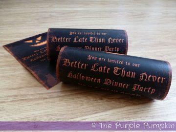 Halloween 2011 invitations