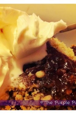 Cherry and Nutella Crumble