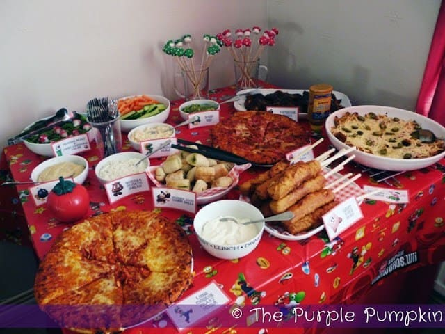 Party Food for a Nintendo Themed Party