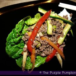Rainbow Beef in Lettuce Cups