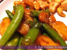 Stir Fry Snowpeas and Water Chestnuts