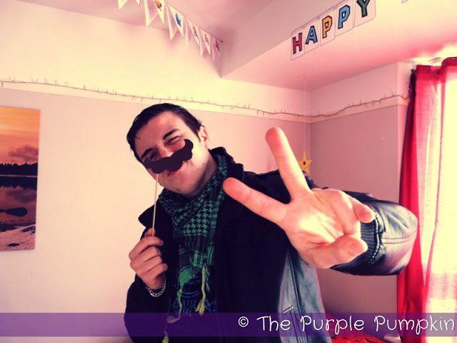 Make a Mario Moustache for a Nintendo Party!