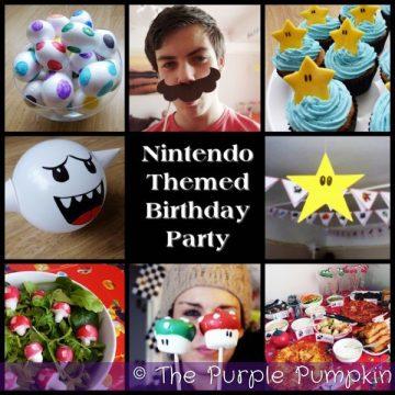 Nintendo Themed Birthday Party