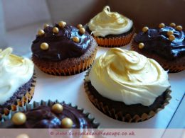 Gold Chocolate Cupcakes