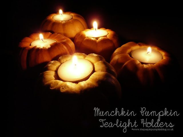 Munchkin Pumpkin Tea Light Holders