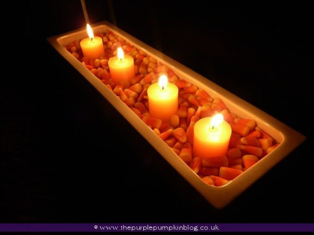 Candy Corn & Candle Display