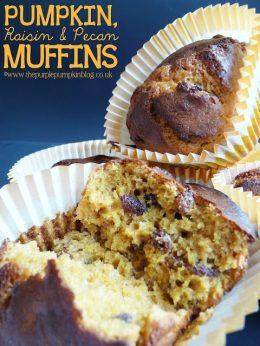 Pumpkin, Raisin and Pecan Muffins