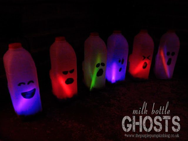 Milk Bottle Ghosts
