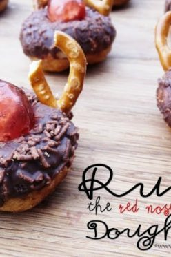 Rudolf the Red Nosed Reindeer Doughnuts