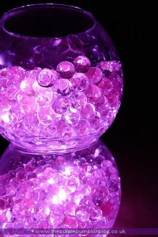 Bowls Of Light Aqua Bead Led Light Display 187 The