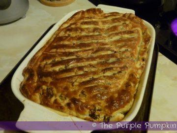 Leftover Turkey and Sweet Leek Pie