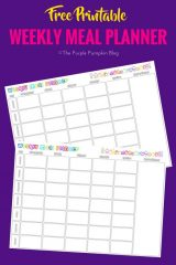 Weekly Meal Planner - Free Printables. Use this fab free printable to get organized at home. Plan your meals in advance, and if you have the time, prep some too. TONS of free printables on this blog!