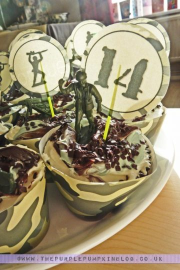 Army Military Camouflage Cupcakes