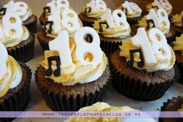 18th Birthday Musical Cupcakes