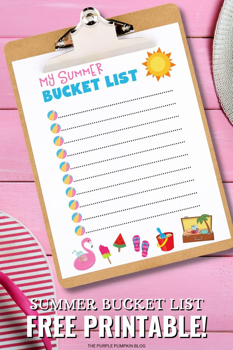 Summer Bucket List Free Printable!