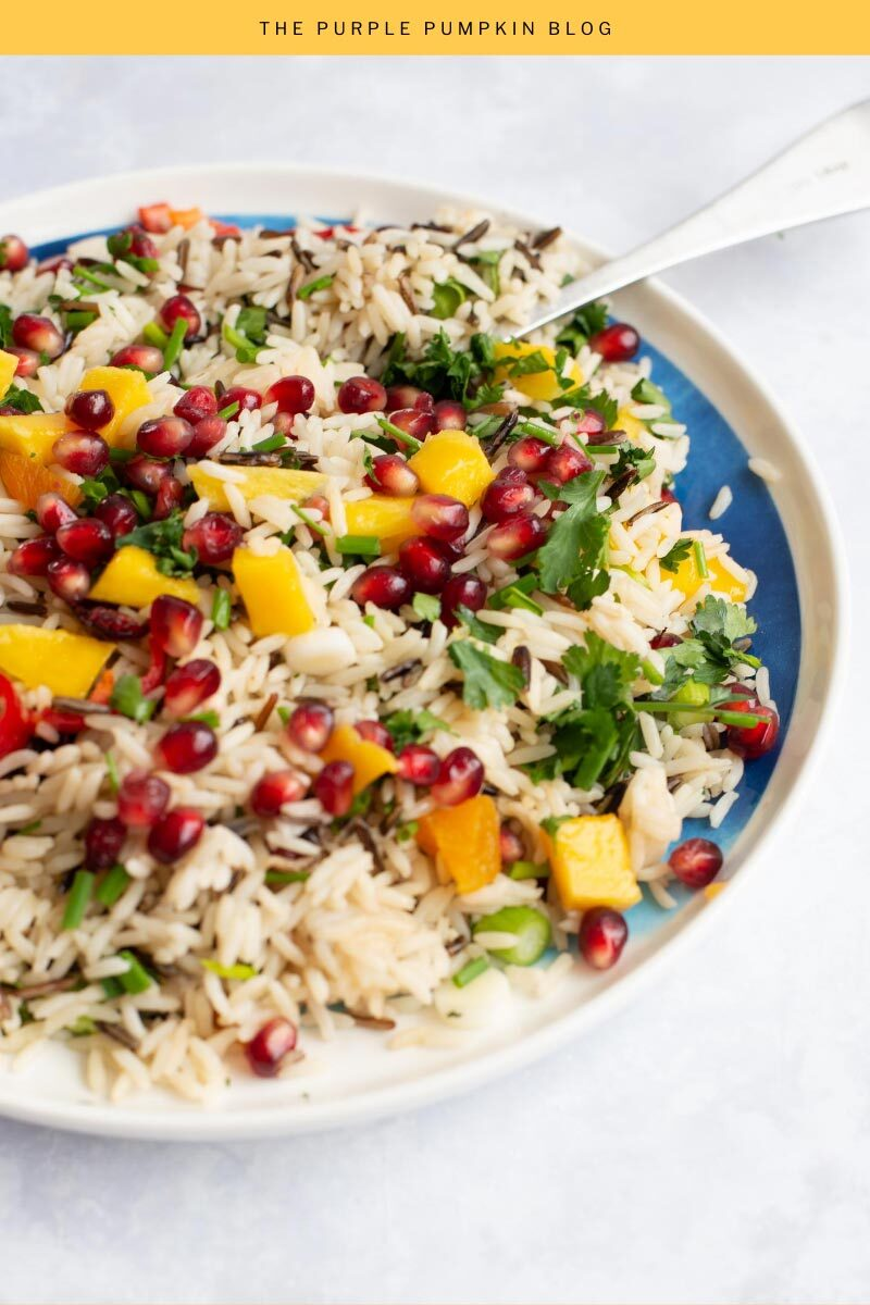 Jewelled Rice Salad Recipe with Fresh and Dried Fruit and Nuts