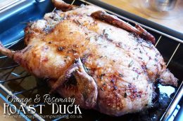 Orange and Rosemary Roast Duck