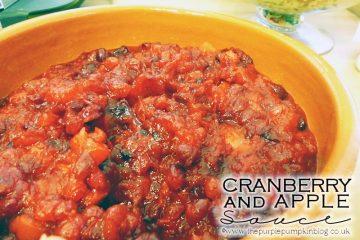 Cranberry Apple Sauce