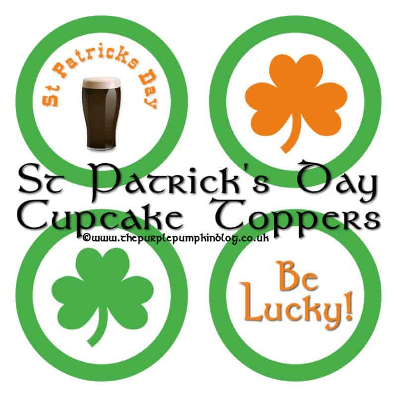 St Patricks Day Cupcake Toppers