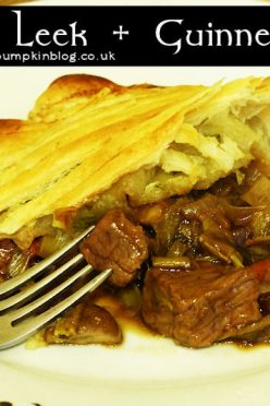 Steak Leek and Guinness Pie