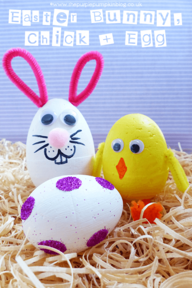 Easter Bunny, Chick and Egg Craft