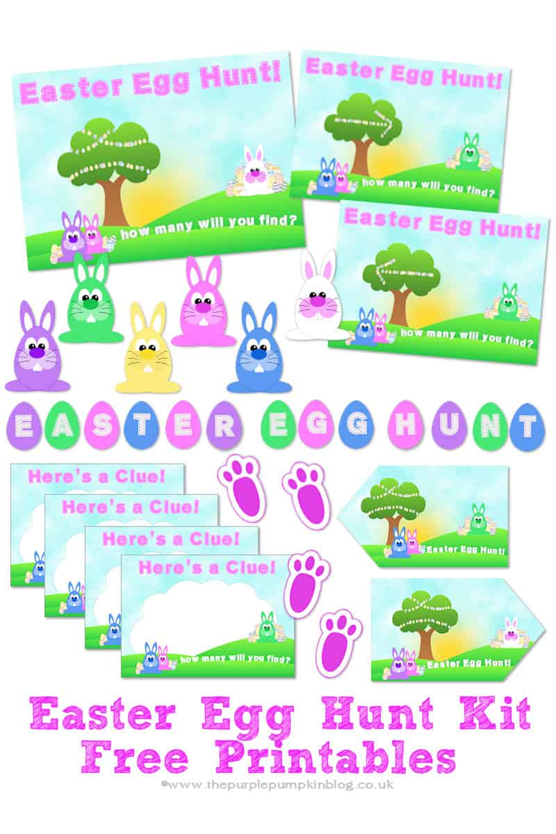 easter egg hunt kit free printables - Easter Egg Printables