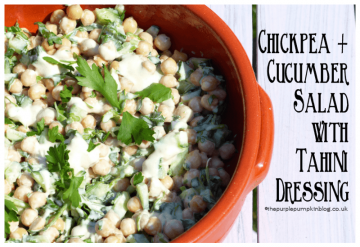 Chickpea + Cucumber Salad with Tahini Dressing