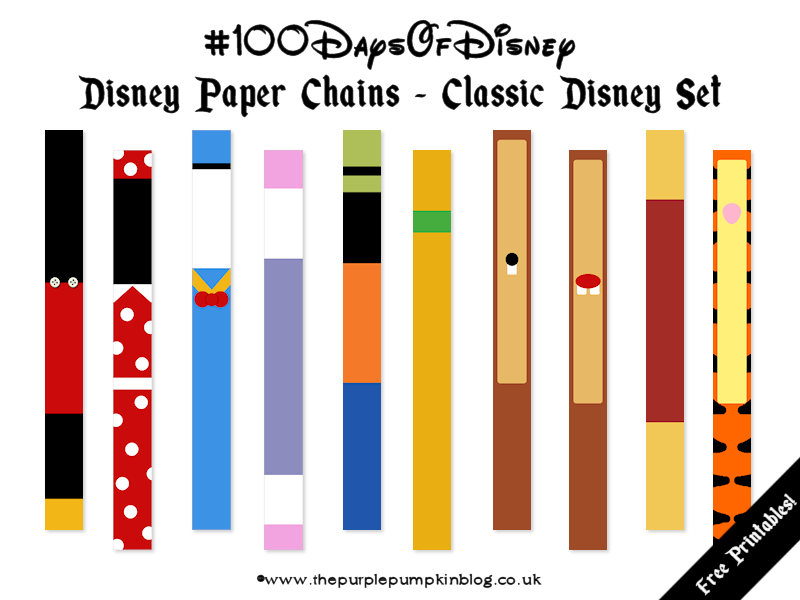 Disney Paper Chains #100DaysOfDisney » The Purple Pumpkin Blog