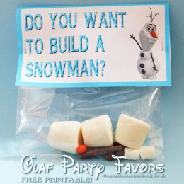 Do You Want To Build A Snowman? Party Favor Printable