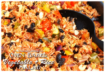 Oven Baked Vegetable + Rice Salad
