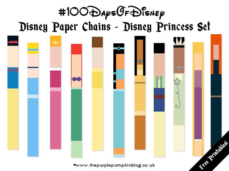Disney Paper Chains - Princesses Set #100DaysOfDisney » The Purple ...