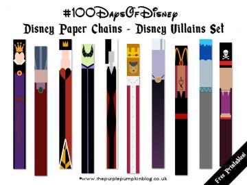 Disney Paper Chains - Disney Villains Set - Free Printable