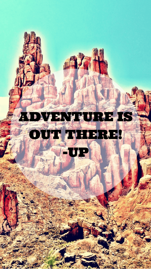 Adventure is Out There Up Quote iPhone5 Wallpaper