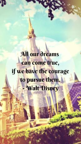 Walt Disney Quote iPhone5 Wallpaper