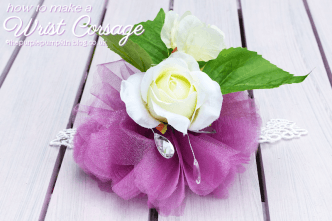 How To Make A Wrist Corsage - with Video Tutorial