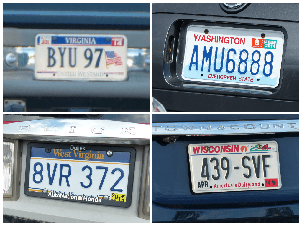 This is an image of Soft License Plate Bingo Printable