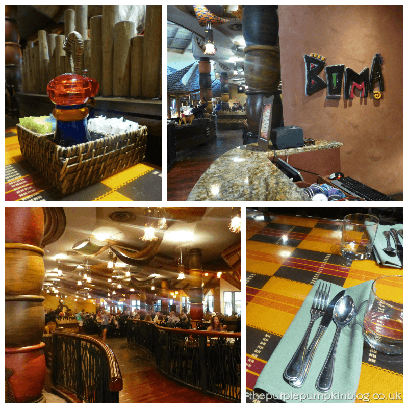 We picked Liam up and made our way over to Animal Kingdom Lodge for our breakfast ADR at Boma - Flavors of Africa. We had dinner here last trip and the food was really good, so we were hoping that it would be the same for breakfast.