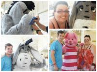 Meeting Eeyore and Piglet