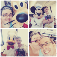 Meeting Pluto Donald and Mickey at Chef Mickeys