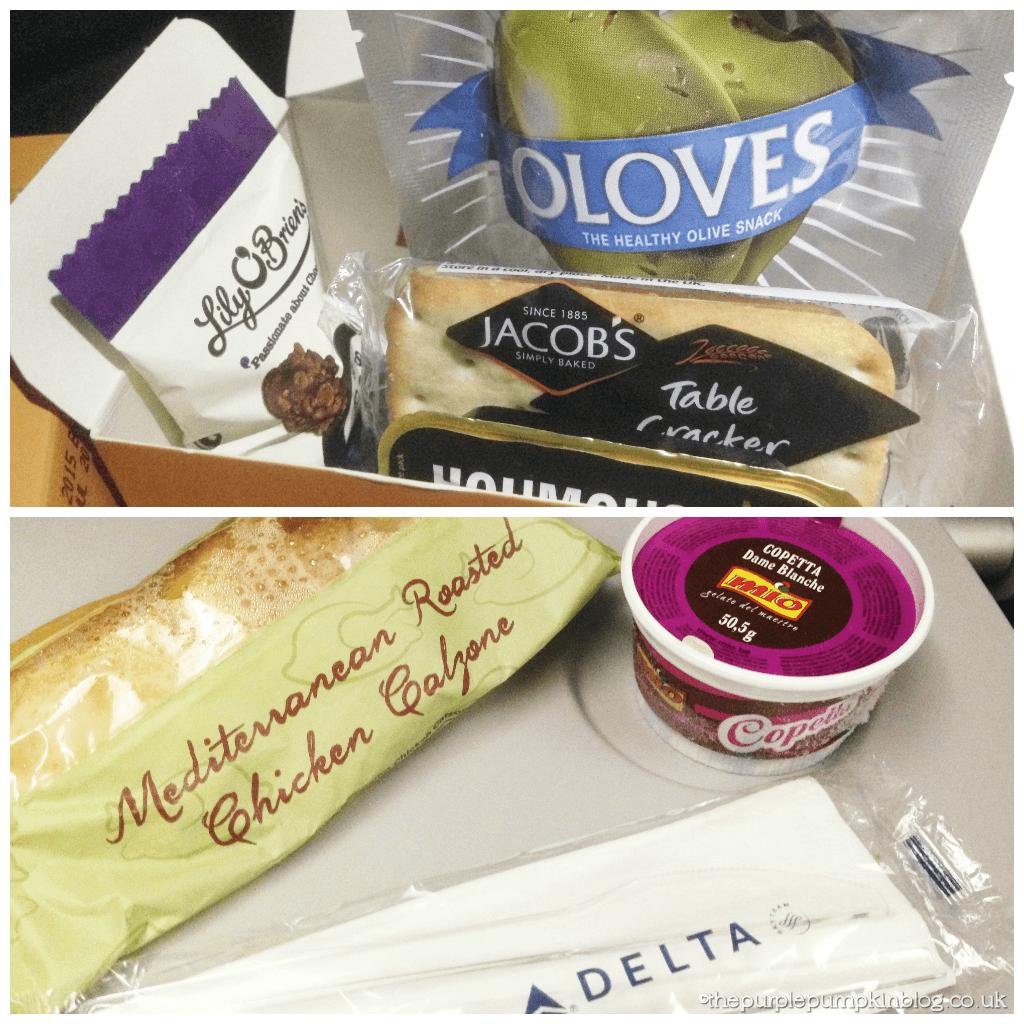 Delta Airlines Snacks - Heathrow - Atlanta - Orlando