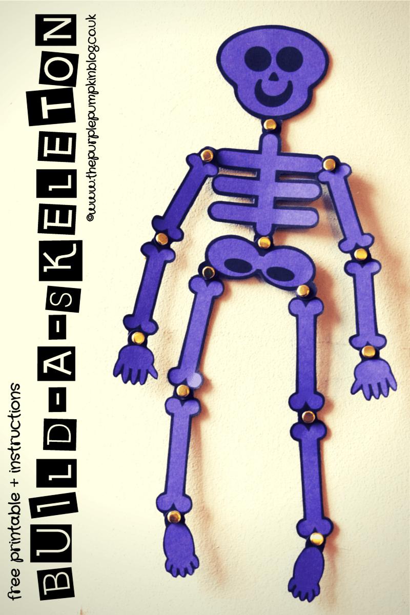 build a skeleton free printable instructions. Black Bedroom Furniture Sets. Home Design Ideas