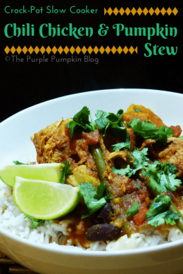 Crock-Pot Slow Cooker Chili Chicken + Pumpkin Stew
