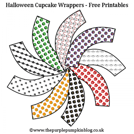 Halloween 2014 Cupcake Wrappers Free Printables