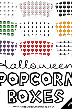 Halloween Popcorn Boxes Free Printable
