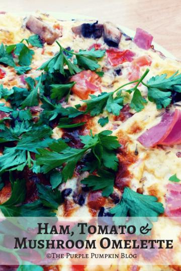 Ham, Tomato and Mushroom Omelette - Slimming World Extra Easy