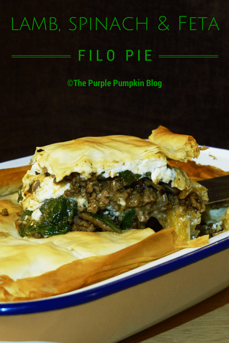 I like to think of it as a cross between spanikopita (which is a Greek spinach and feta pie) and moussaka (which is lamb mince between layers of vegetables, and a bechamel topping) ultimately taking the flavour of the minced lamb of moussaka and combining it with the spinach and feta of the spanikopita. It is a seriously good pie!