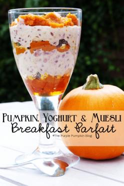 Pumpkin Yoghurt and Muesli Breakfast Parfait