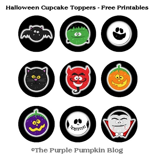 Halloween Cupcake Toppers | Free Printables for #CraftyOctober
