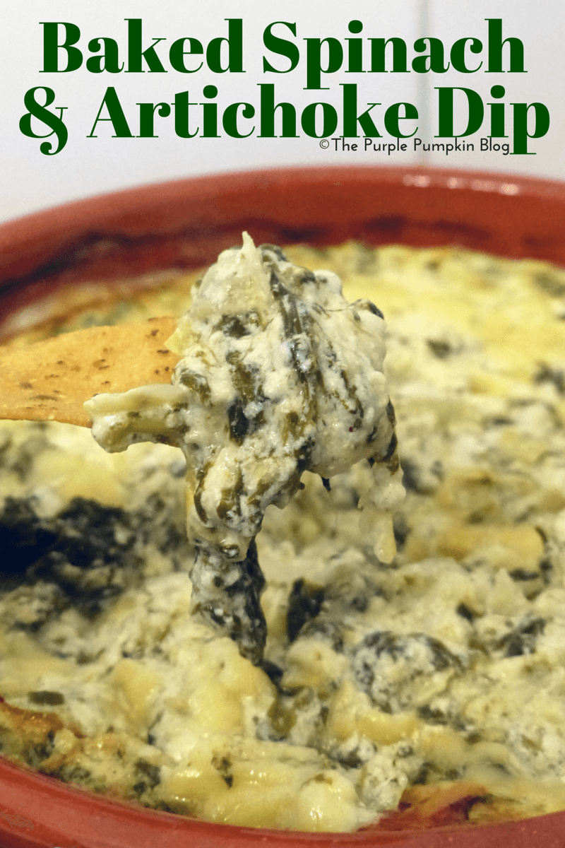 Baked Spinach & Artichoke Dip » The Purple Pumpkin Blog